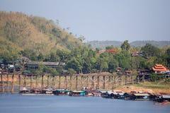 Pont en bois Images stock