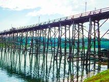 Pont en bois Photographie stock