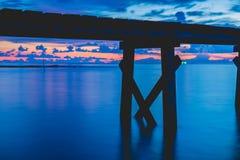 Pont en bois Photographie stock libre de droits