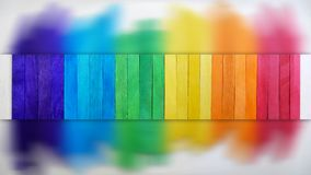 Pont en bois abstrait en arc-en-ciel Image libre de droits