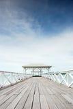 Pont en bois d'Atsadang sur Koh Sichang Thaïlande Photos libres de droits