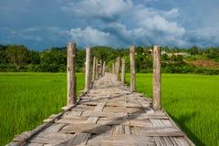 Pont en bois de Su-Pince-pe image libre de droits