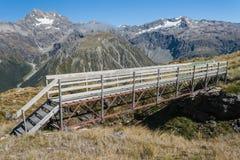 Pont en bois en passage d'Arthur Image libre de droits