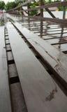 Pont en bois sur le Sangkhaburi Photo libre de droits