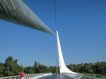 Pont en cadran solaire, Redding, la Californie Images stock