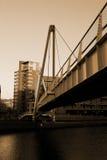 Pont en canal à Leeds Photographie stock libre de droits