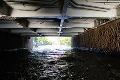 Pont en canal, Amsterdam Images libres de droits