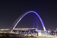 Pont en canal de l'eau de Dubaï Photo stock