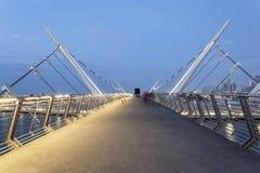 Pont en canal de l'eau de Dubaï Images stock