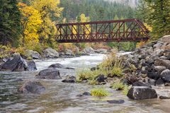 Pont en canyon de Tumwater Photographie stock
