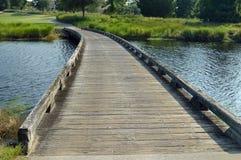 Pont en chariot de golf Photographie stock libre de droits