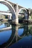 Pont en chemin de fer à Pontevedra photos stock