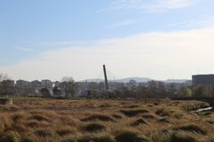 Pont en chemin de fer à Pontevedra images stock