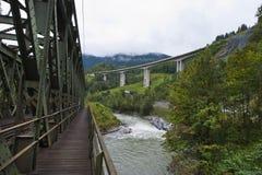 Pont en chemin de fer photo stock