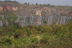 Pont en chemin de fer de viaduc de Gokteik Photo stock