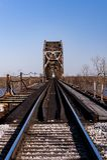 Pont en chemin de fer du Caire - la rivière Ohio, Kentucky et le Caire, l'Illinois photographie stock