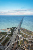 Pont en chemin de fer relié à l'aéroport international de Kansai Photos libres de droits