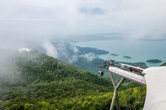 Pont en ciel de Langkawi Photographie stock libre de droits