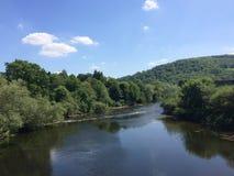 Pont en fer de Monmouth Images stock