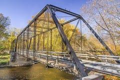 Pont en fer de moulin de Furnas image libre de droits