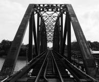 Pont en fer de structure Photographie stock libre de droits