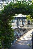 Pont en fer travaillé Photographie stock