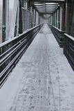 Pont en hiver Photographie stock