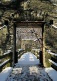 Pont en hiver photo libre de droits