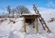 Pont en hiver Images libres de droits