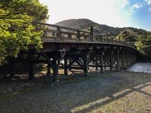 Pont en Ise Jingu Image libre de droits