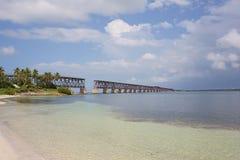Pont en longeron du Bahia Honda Image stock