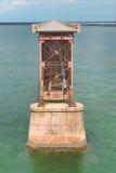 Pont en longeron du Bahia Honda Photos libres de droits