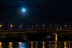Pont en lune Photos stock