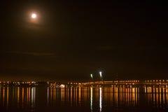 Pont en lune Photo libre de droits