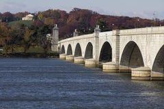 Pont en mémorial d'Arlington Image stock