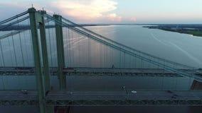 Pont en mémorial de Delaware de tir de bourdon clips vidéos