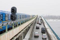 Pont en métro Images stock
