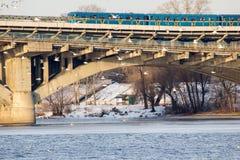 Pont en métro Image libre de droits