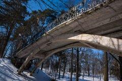 Pont en parc Images stock