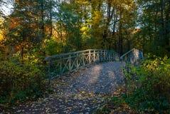 Pont en parc d'automne Photographie stock libre de droits