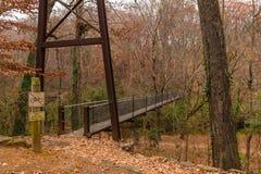 Pont en parc de Lullwater, Atlanta, Etats-Unis Photographie stock