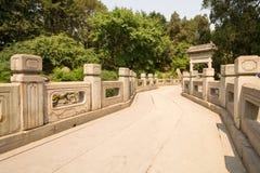 Pont en parc Pékin Chine de Beihei Photo libre de droits