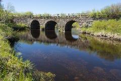 Pont en pierre Jamtland de voûte Photographie stock libre de droits