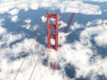 Pont en porte d'or à San Francisco Photos stock