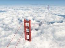 Pont en porte d'or à San Francisco Images libres de droits