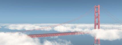 Pont en porte d'or à San Francisco Photographie stock libre de droits