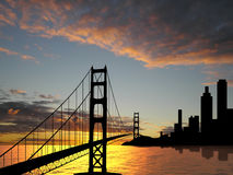 Pont en porte d'or Image stock
