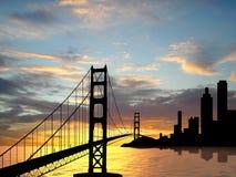 Pont en porte d'or Images libres de droits