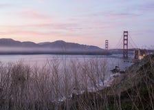 Pont en porte d'or et San Francisco Bay Photo libre de droits