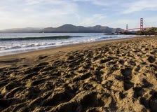 Pont en porte d'or et San Francisco Bay Photographie stock